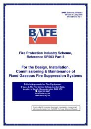 BAFE SP203 - Part 3 - Fire Suppression Systems