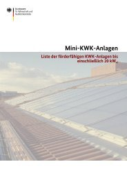 Liste der förderfähigen KWK-Anlagen - Berndt-Enersys