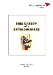 Fire Safety with Extinguishers - (staff.napier.ac.uk). - Edinburgh ...