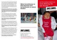 Gute Bildung für alle Kinder - Die Linke. Brandenburg