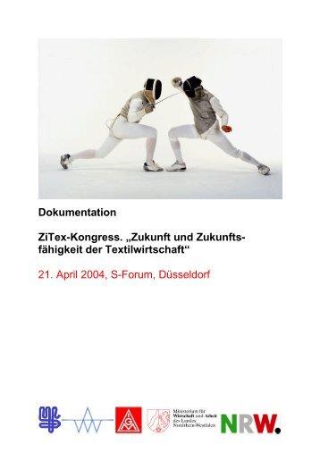 """Dokumentation ZiTex-Kongress. """"Zukunft und Zukunfts- fähigkeit der ..."""