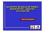 LES EFFETS DE BALLE EN TENNIS : DESCRIPTION - ANALYSE ...