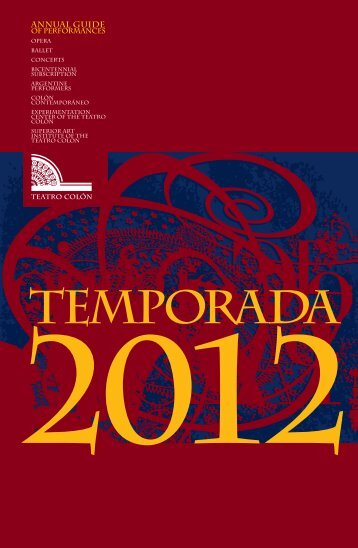 Annual Guide - Teatro Colón