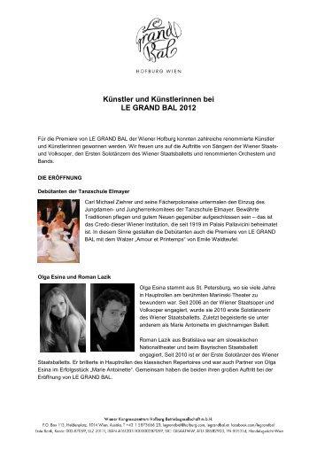 erfahren Sie mehr zu den Künstlerinnen und - Le Grand Bal