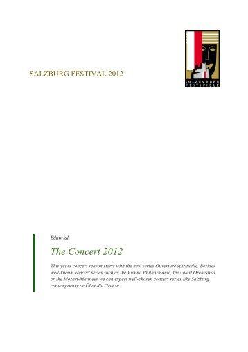 The Concert 2012 - Salzburger Festspiele
