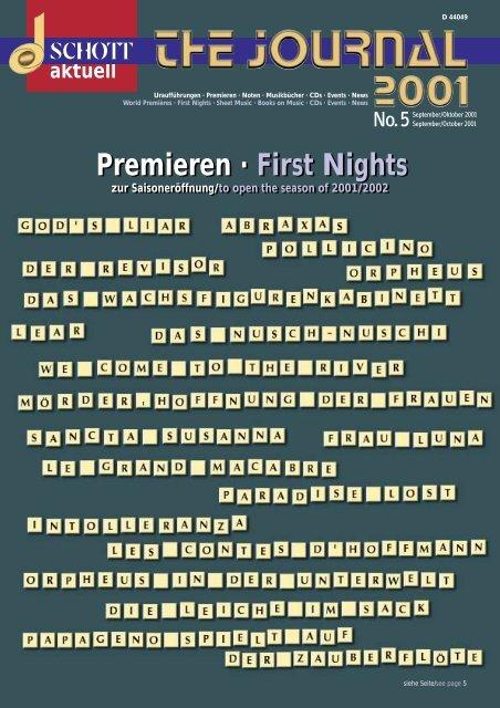 First Nights - Schott Music