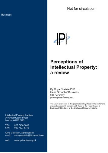 Perceptions of Intellectual Property: A Review - (IAM) Magazine