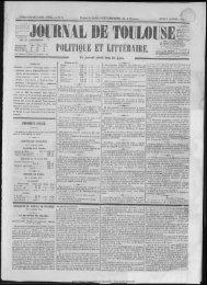 POLITIQUE E.T LITTÉRAIRE. - Bibliothèque de Toulouse