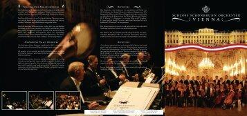 SSO orchester folder - Schloss Schönbrunn Orchester Vienna