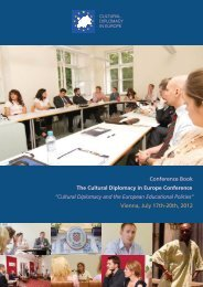 The Cultural Diplomacy in Europe Conference - Institute for Cultural ...
