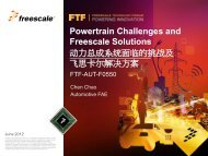 Powertrain Challenges and Freescale Solutions - 飞思卡尔技术论坛