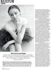 KULTUR: Svetlana Zakharova (Bolschoi-Theater Moskau) - Bolero