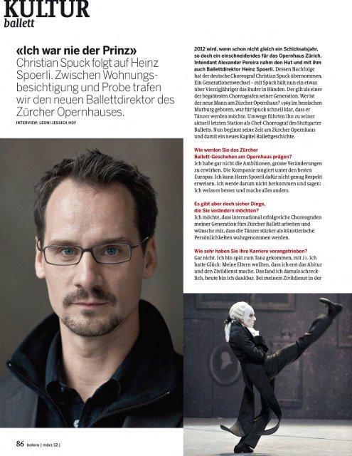 KULTUR ballett: Christian Spuck Zürcher Opernhaus - Bolero