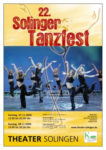 Wir fotografieren das Tanzfest - Theater Solingen