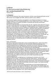 Leitlinien für die Kulturförderung der Landeshauptstadt Kiel.