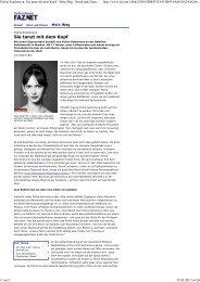 Polina Semionova: Sie tanzt mit dem Kopf - Mein Weg - Beruf und ...