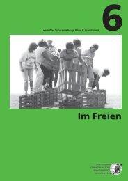 Lehrmittel Sporterziehung: Band 6 – Broschüre 6 - mobilesport.ch
