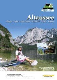 URLAUB · SPORT · GESUNDHEIT · HOLIDAYS ... - in Altaussee