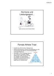 Hormone und Leistungssport! - congress-info.ch | Home