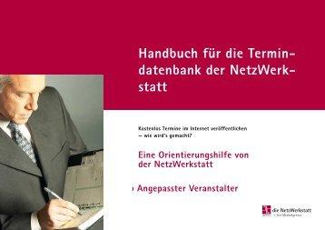 Handbuch für die Termin- datenbank der NetzWerk - die NetzWerkstatt