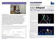 Ballet Nr.60-6 Seiten - Ballettfreunde Deutsche Oper am Rhein
