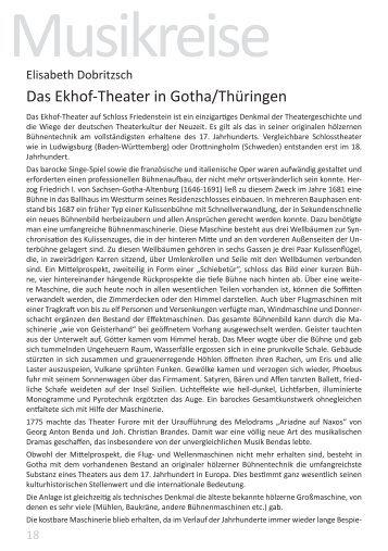 Das Ekhof-Theater in Gotha/Thüringen