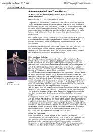 Unsterbliche Gefühle am Basler Ballett - Jorge García Perez