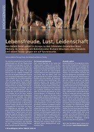 Lebensfreude, Lust, Leidenschaft - Birseck Magazin
