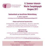 8. Sommer-Intensiv- Woche Tanzpädagogik Bregenz 2011