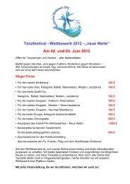 """Tanzfestival –Wettbewerb 2012 –""""neue Welle"""" Am 02. und 03 ... - VIRA"""