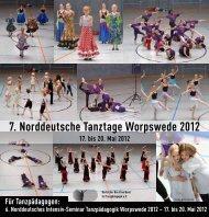 7. Norddeutsche Tanztage Worpswede 2012 Tanz - Deutscher ...