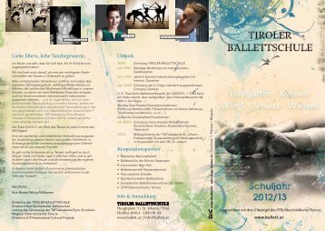 Chronik Liebe Eltern, liebe Tanzbegeisterte, Info & Anmeldung ...