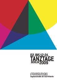 So 11.1., 16:00 Uhr - Tanztage Berlin