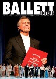 Ballett Intern 2/2008 - Deutscher Berufsverband für Tanzpädagogik