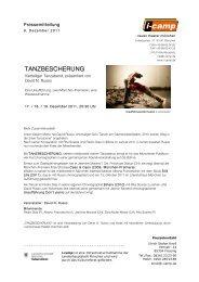 TANZBESCHERUNG - Neues Theater München