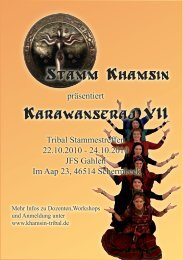 American Tribal Style - Advanced Workshops - Khamsin