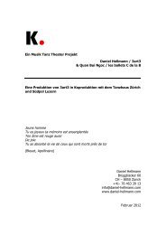 Ein Musik Tanz Theater Projekt Daniel Hellmann / 3art3 & Quan Bui ...