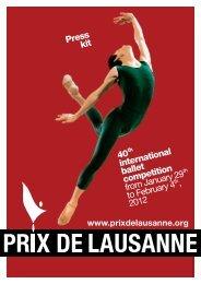 Press Kit 2012 EN - Prix de Lausanne