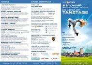 Tanztage München 2009 Tanzworkshops ... - Tanztage.com