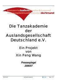 Die Tanzakademie der Auslandsgesellschaft Deutschland e.V.