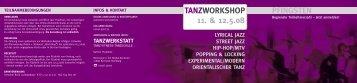 tanzworkshop 11. & 12.5.08 pfingsten - Tanzwerkstatt Przybilski