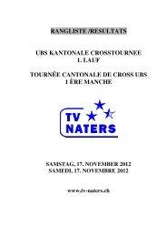 Crosslauf Naters - LFT Oberwallis