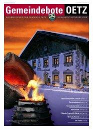 Gemeindebote 2008 (11,25 MB) - Gemeinde Oetz - Land Tirol