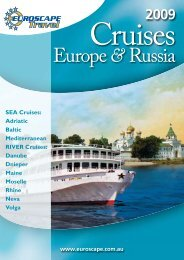 2009 Cruises - Euroscape Travel