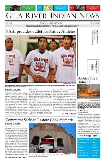 July 2011 Gila River indian Newspaper - Gila River Indian Community