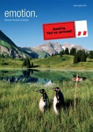 discover the best of austria. - Austrian National Tourist Office