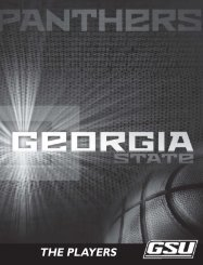 Player Profiles - Georgia State University Athletics