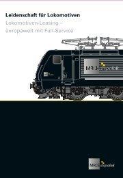 Leidenschaft für Lokomotiven - Siemens Dispolok GmbH