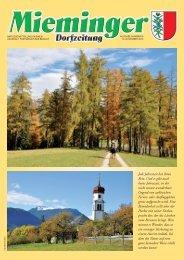 Mieminger Dorfzeitung November 2010 - Gemeinde Mieming - Land ...