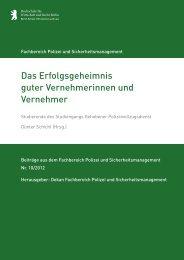 Projektbericht - HWR Berlin